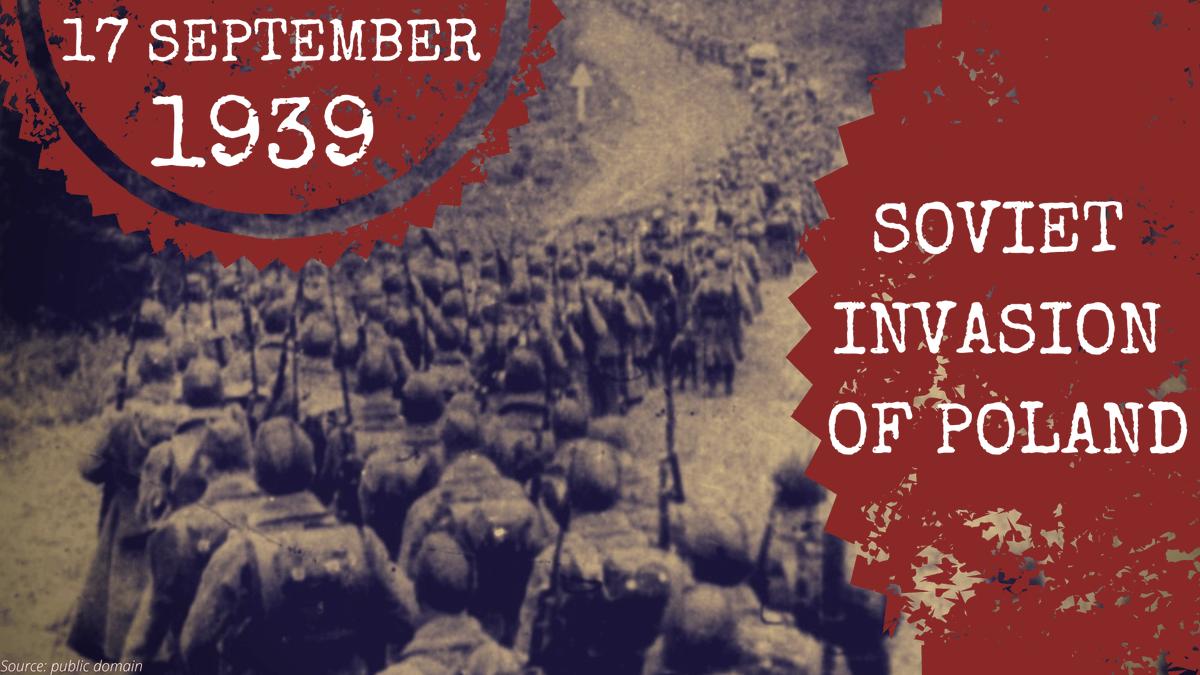 17. září 1939 zahájila Rudá armáda invazi do 🇵🇱.  V důsledku agrese ztratilo Polsko 48% svého území. Několik stovek tisíc Poláků bylo deportováno, mnoho polských občanů bylo zabito NKVD.  Závažnost tohoto dne a jeho důsledky nelze vymazat. https://t.co/TXUFL8EH12