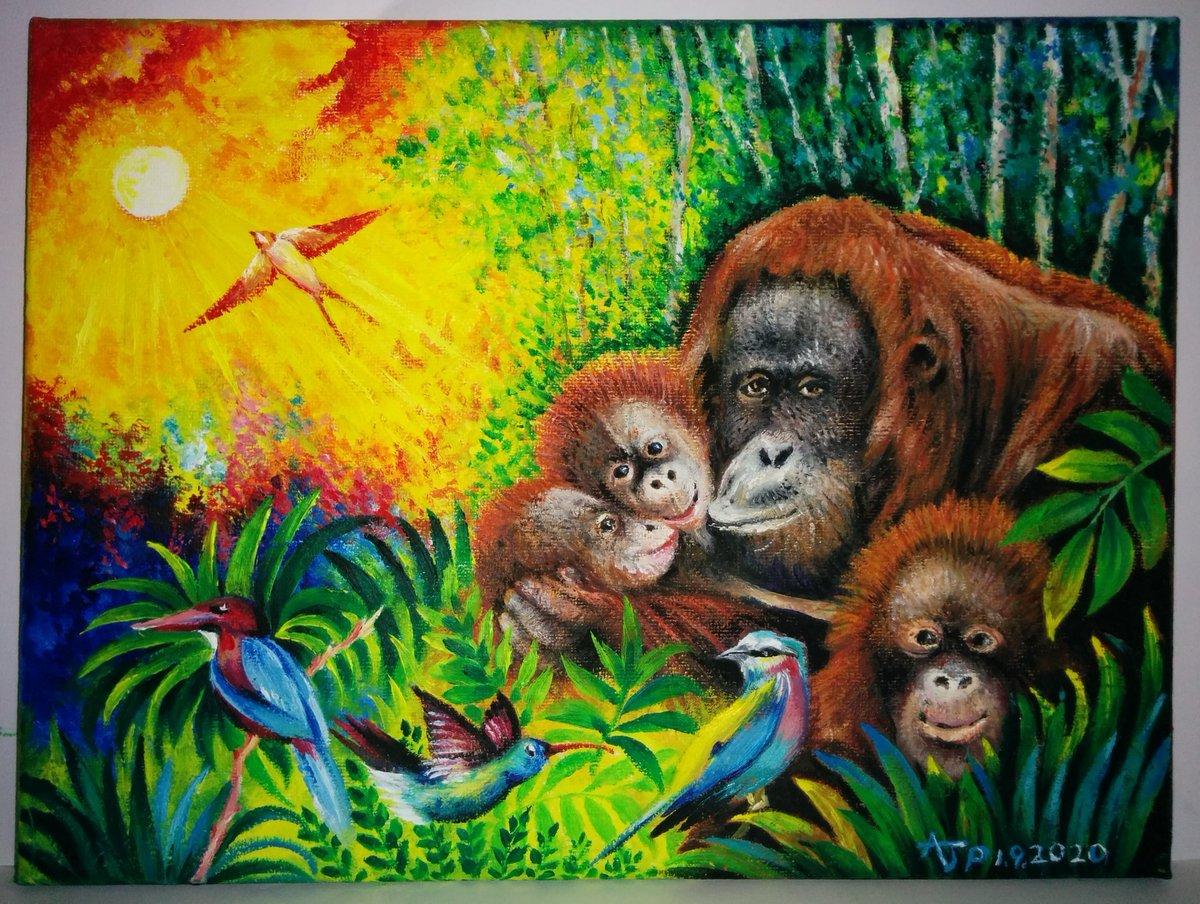 "My original oil painting of Orangutans called ""Loving care"" available for sale ... https://t.co/ZhyYwZorX4 #alanjporterart #art #oilpainting #orangutans #photo #pic #love #painting #artwork https://t.co/xX2klaG867"