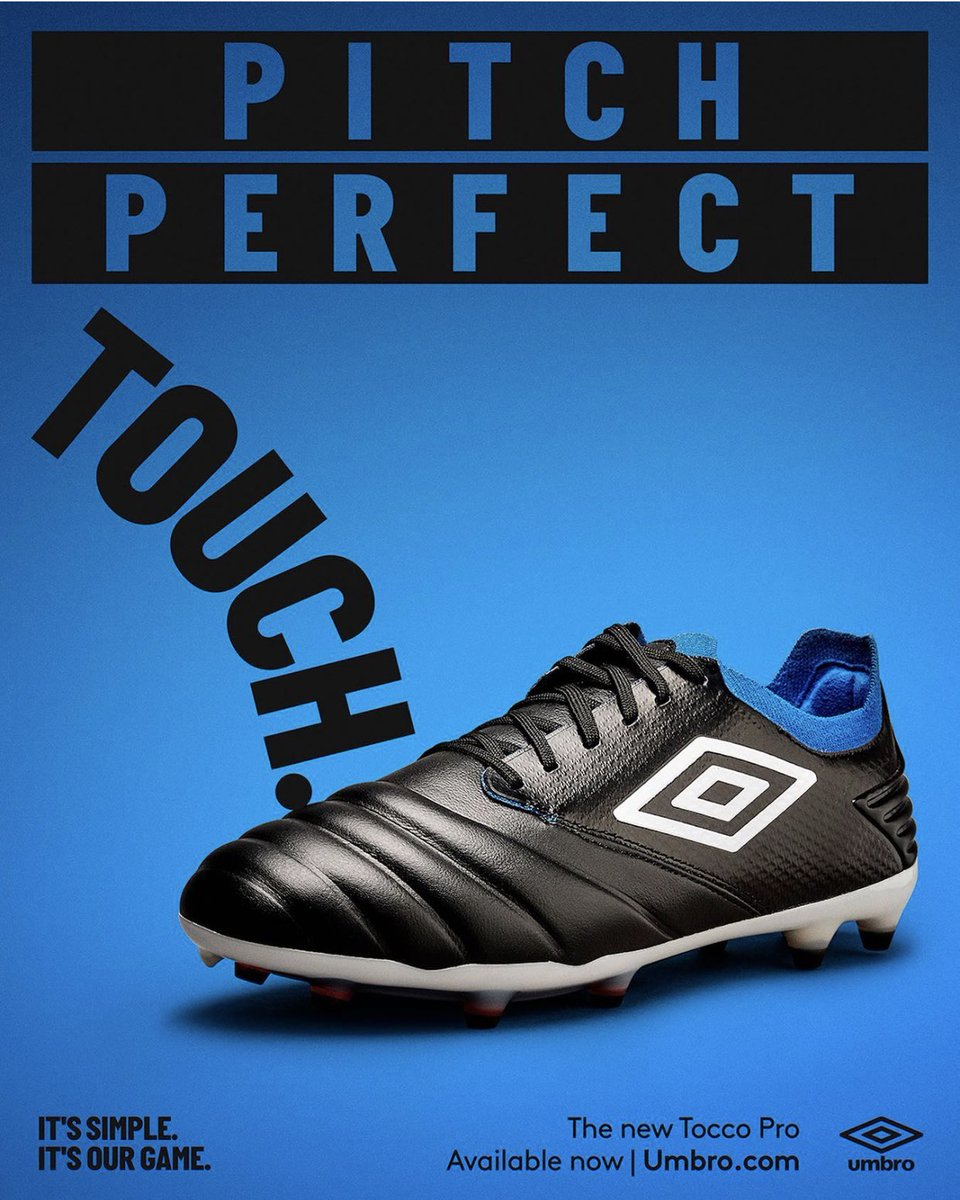 Excited to get into these.   Pitch Perfect Touch.  #tocco #ourgameissimple @umbro https://t.co/bEPNcLaNDH