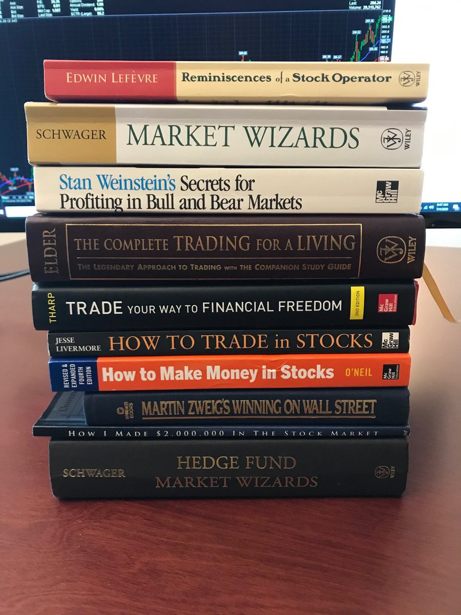 Great list of Investing and Trading Books📚 📚  How many have you read?  Any favourites?  Any recommendations?  #books  #investing #Trading