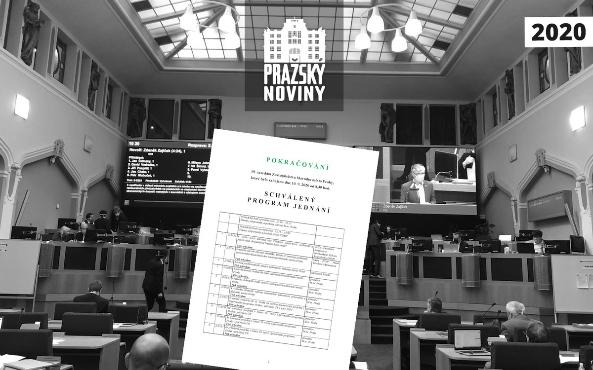 PRAHA: 19. ZASEDÁNÍ ZASTUPITELSTVA HLAVNÍHO MĚSTA PRAHY – POKRAČOVÁNÍ  19. jednání Zastupitelstva hlavního města Prahy se koná dnes ve čtvrtek 17. září 2020…  https://t.co/wrxBUM7O6c https://t.co/zAmE79dABx