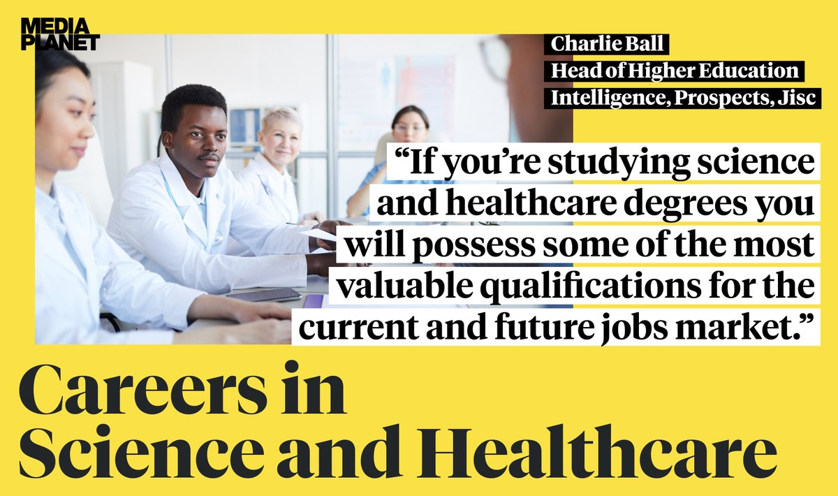 #CareersInScienceHealthcare launches today, distributed inside the @newscientist and online at https://t.co/Y1jCRHFB0h featuring Charlie Ball with Jisc - @Prospects @LuminateLMI https://t.co/NdtkPDVWii
