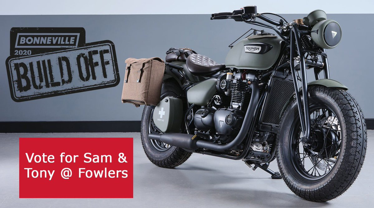 Bonneville Build-Off 2020 - Sam and Tony from Fowlers have entered a tribute to VE Day 75. Please vote now:   https://t.co/z7BUdvZusl  #bonnevillebuildoff #VEDay https://t.co/sa5lWaFCEY