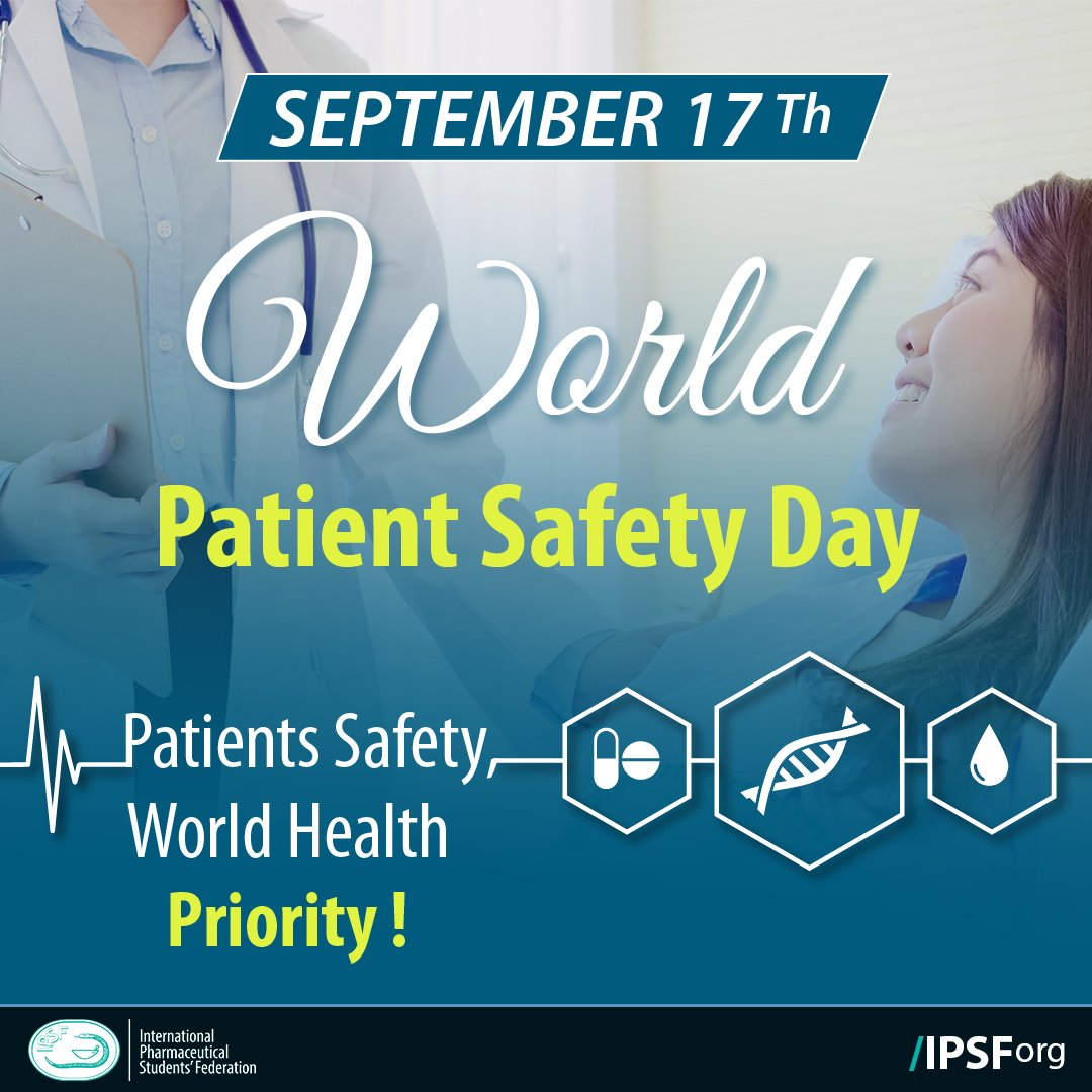 WORLD PATIENT SAFETY DAY   Today , 17 September 2020, IPSF , the World Health Organization, international partners and all countries are celebrating the World Patient Safety Day which was established by the 72nd World Health Assembly, in May 2019.  #IPSFOrg #World_patient_safety https://t.co/7PjtnsW9NV