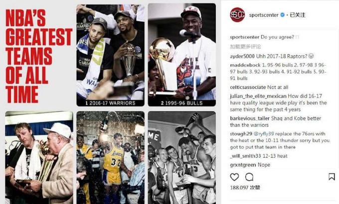 美媒評選NBA歷史最佳球隊:三連冠的公牛僅排第二,第一果然是他們!-黑特籃球-NBA新聞影音圖片分享社區