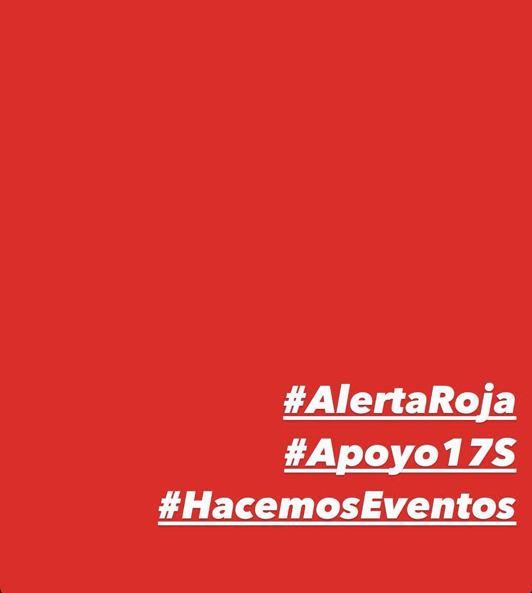 #AlertaRoja #HacemosEventos #Apoyo17S https://t.co/HVw2ZBjxJC