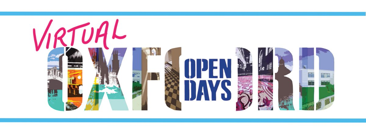 Don't forget to drop in to our last Virtual #OxOpenDay2020 tomorrow!   We'll be online from 7am until 5pm answering your questions, and you can find the full list of events from colleges and departments at https://t.co/nSVtSzv7Ei https://t.co/dpom8sTIKf