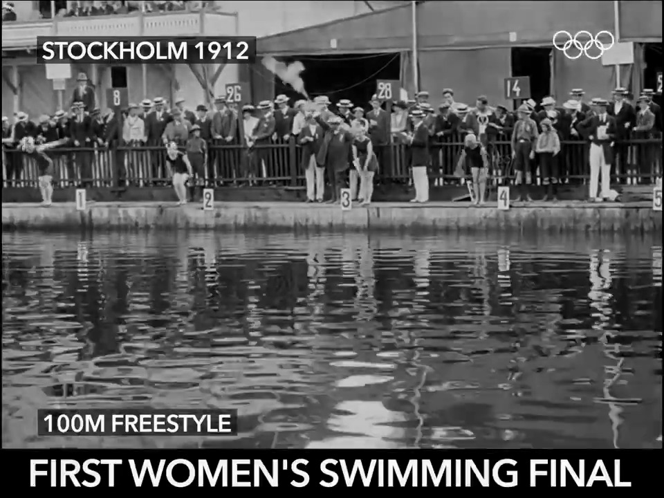 The very first womens swimming Olympic final. 🏊‍♀️ #tbt #Stockholm1912 @fina1908