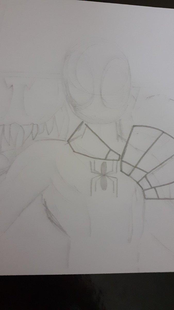 Currently drawing the Ultamate Spider-man game box art in my art style. https://t.co/2UyUpscyvA