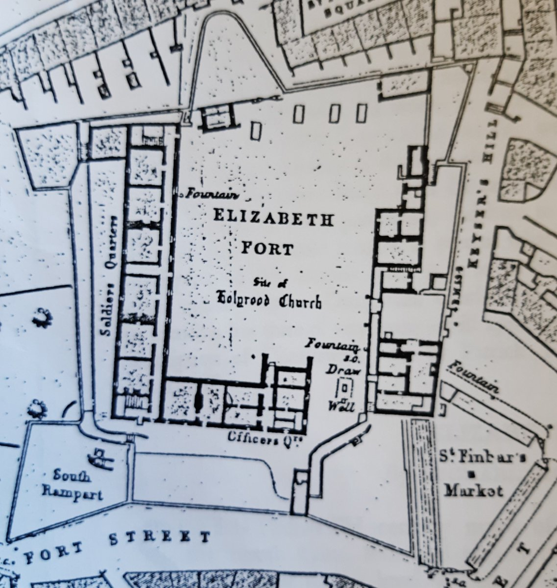 We received this fab Elizabeth Fort layout from Michael O'Donnell See how it clearly shows the locations of the Soldiers and Officers quarters.  #PureCorkWelcomes #IrelandsAncientEast #CorkCityCouncil #PureCork https://t.co/9laW8trcN0