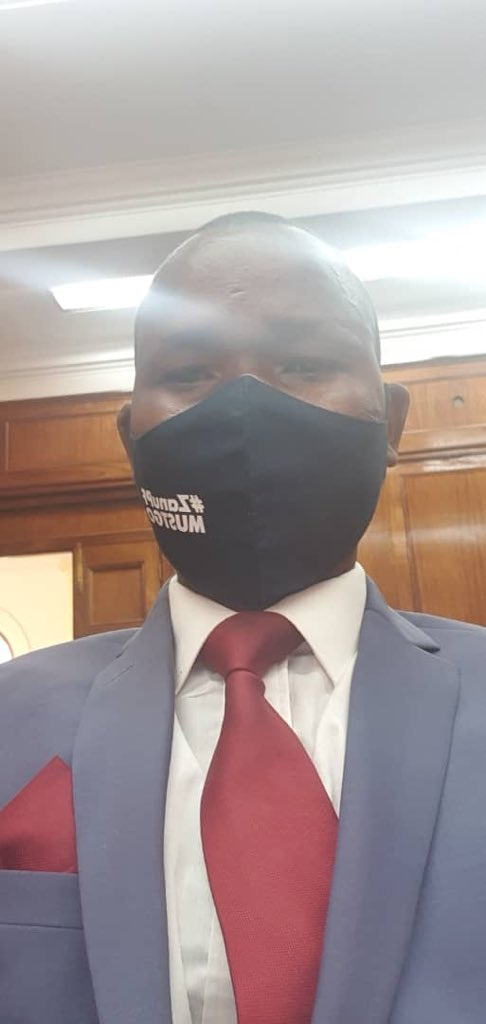 The @mdczimbabwe #MatNorth Provincial Chairman @DubekoSibanda is appearing in court for charges of distributing #ZanuPfMustGo masks. #ZimbabaweanLivesMatter #31July