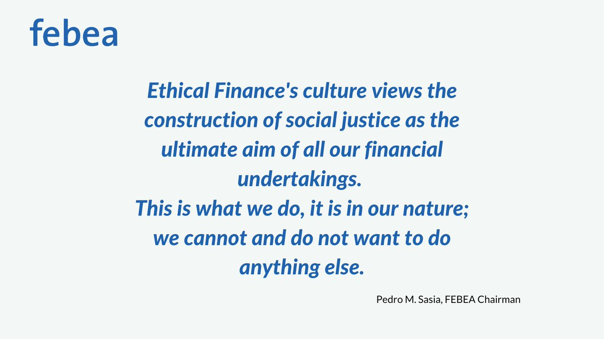 """📌""""Another kind of finance is not only possible, it is, today, both necessary and urgent.""""  Read the message by FEBEA Chairman @perusasia  #EthicalFinance  👇 https://t.co/cvgFoPpEJS https://t.co/eXWfBc4zlc"""