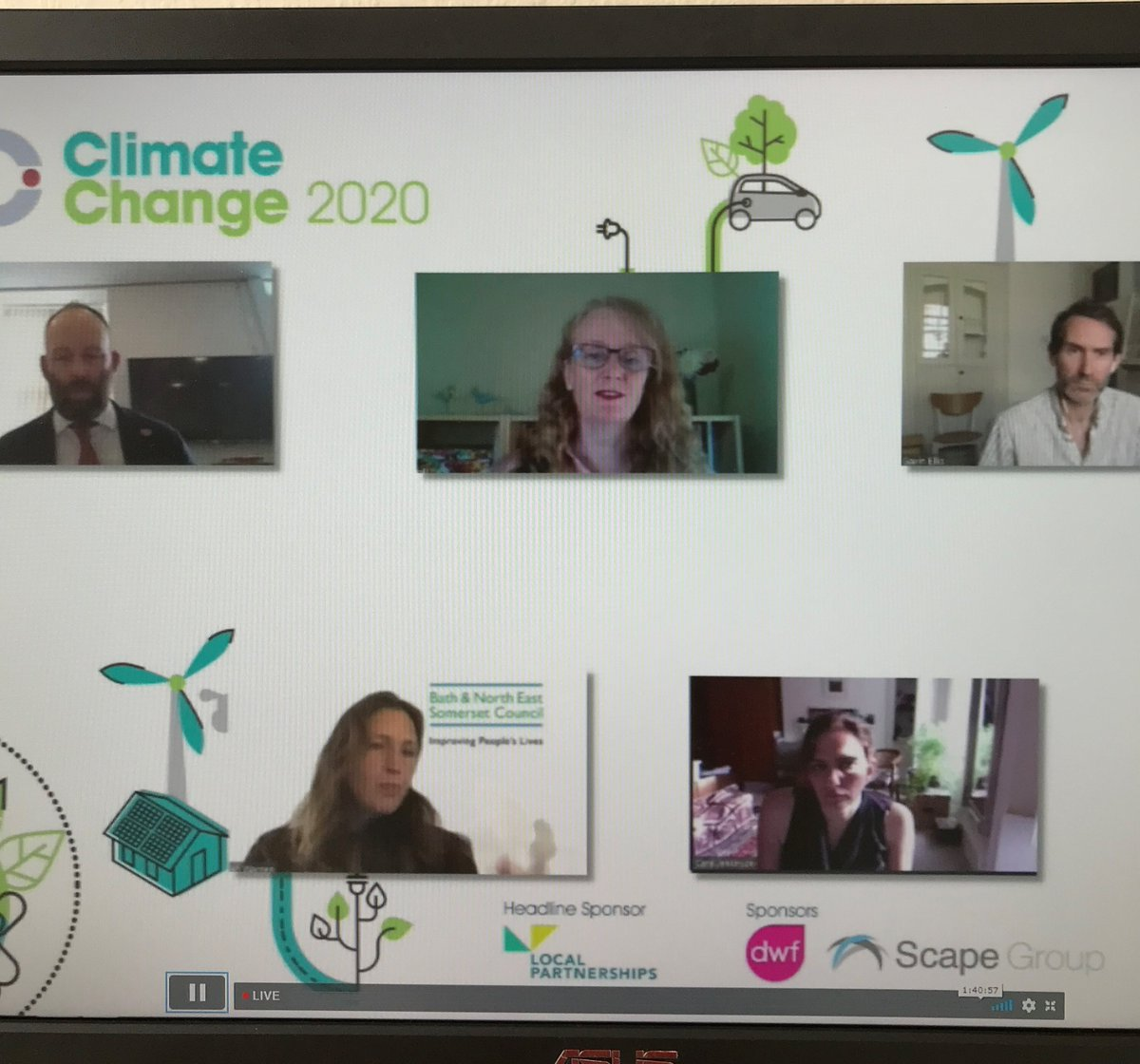 """Using innovative and creative ways to communicate, including social media, can help achieve community engagement in the green agenda"" says @LP_localgov Jo Wall #LGCClimateChange"