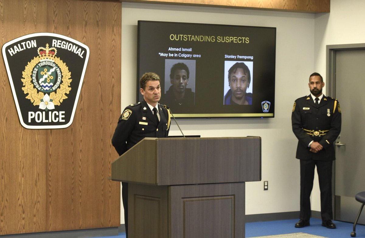 MILTON HOMICIDE ARREST: @HaltonPolice & @PeelPolice announce arrests of 2 suspects for first degree murder in the June homicide of 16y/o Ezekiel Agyemang of Brampton, two suspects still outstanding. https://t.co/GXqC5wU7me