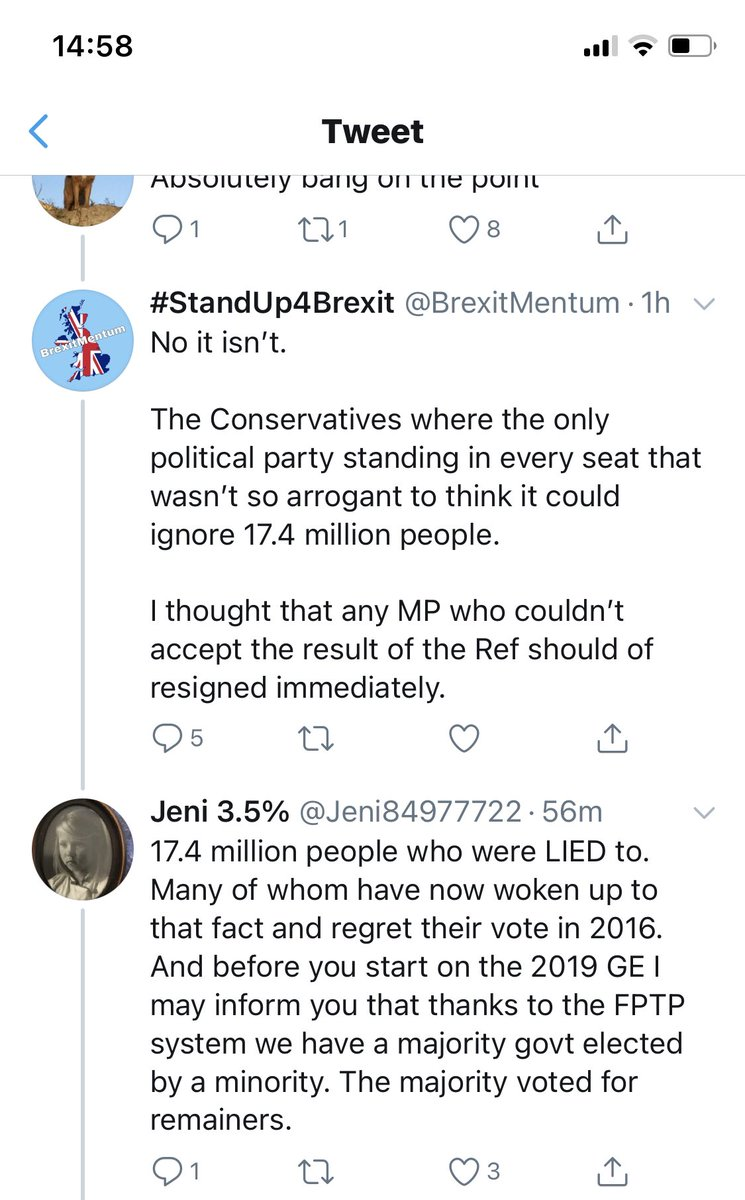 Why is it that the #FBPE #RejoinEU #Rejoiner #RevokeArticle50 lot can't debate and back up their arguments?   Oh well.   #Brexit https://t.co/pSQ5pWcYA7