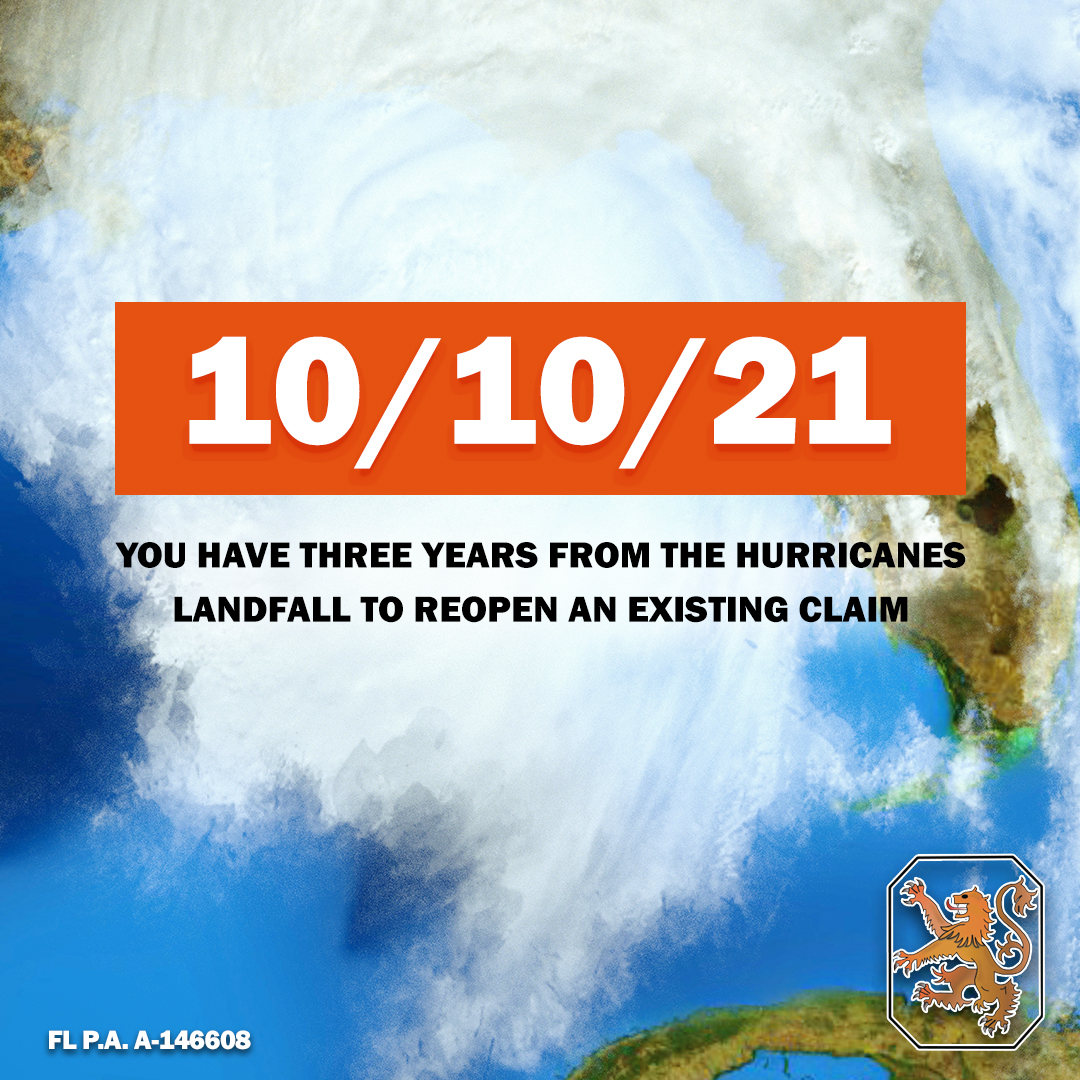 It's been almost two years since #HurricaneMichael made landfall, causing $25 billion in damage.  If you're insurance claim was denied or underpaid, you still have three years from the hurricanes landfall to reopen an existing claim.  https://t.co/HoPoSZ0auc | (850) 692-4606 https://t.co/Hmf46QkJlr