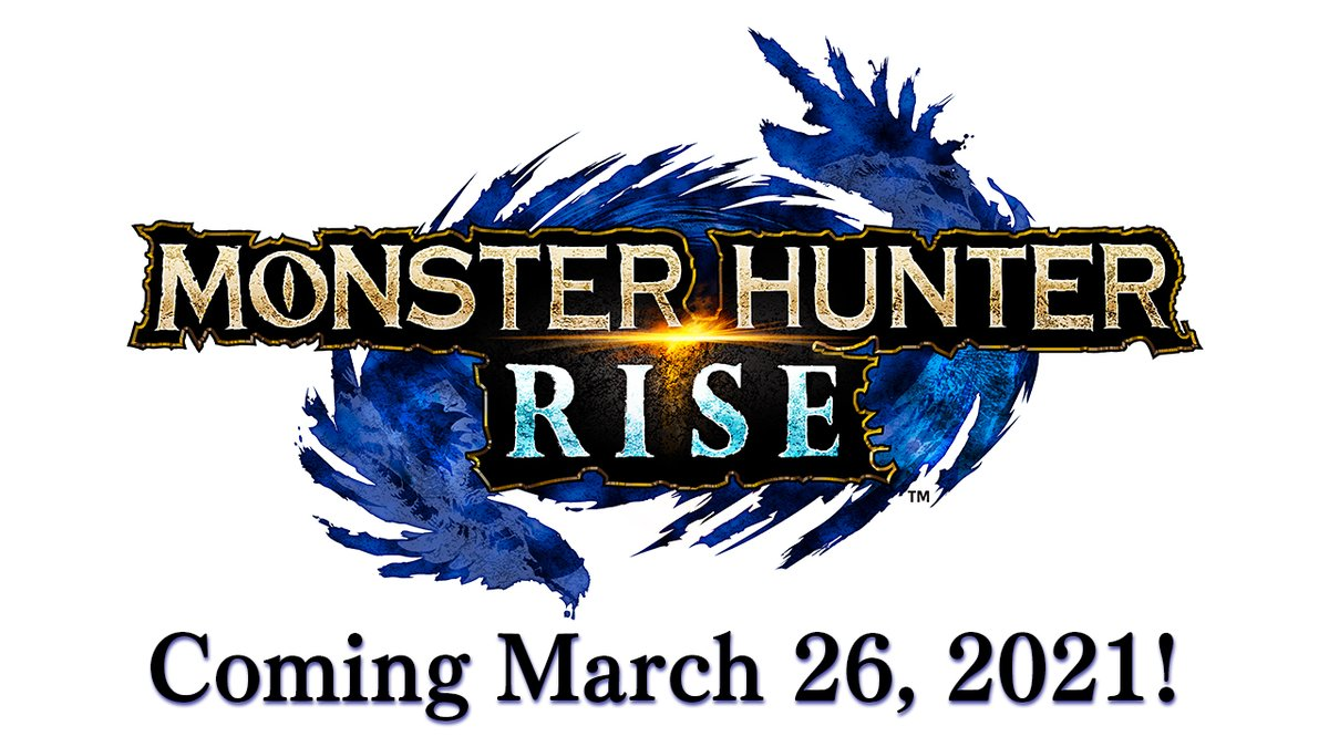 Introducing Monster Hunter Rise, a brand new take on the Monster Hunter experience, with new monsters, fresh gameplay twists and more!  #MHRise launches on #NintendoSwitch on March 26, 2021. https://t.co/KOkMzks42n