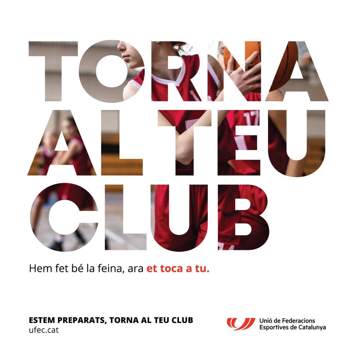 Estem preparats. Torna al teu club‼️  ✅Federacions i clubs hem fet la feina perquè l'esport sigui un espai segur.  🎾Ara et toca a tu. Torna al teu club  #somesport #tenniscatalà #tennis #tenis #clubs #esportcat #TornaAlTeuClub https://t.co/XLP0Ovq6wH