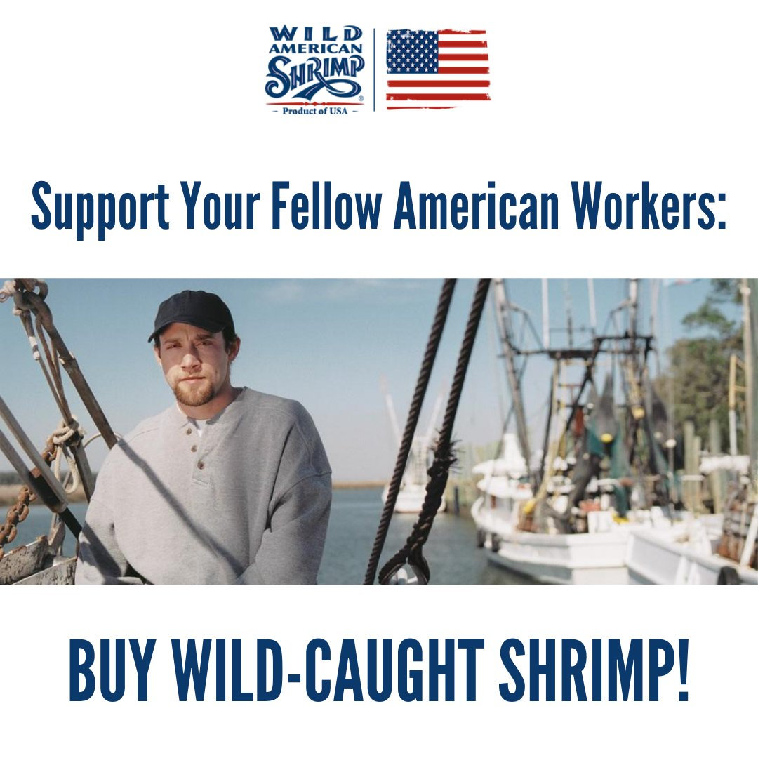 Whether you're buying shrimp from your local grocery store or getting them delivered from your favorite restaurant, be sure to always get wild-caught, American shrimp!  Learn more about our delicious Wild American Shrimp at https://t.co/lXQKcQOhz8! #shrimp #buylocal #wildcaught https://t.co/WcRAEAuR2r