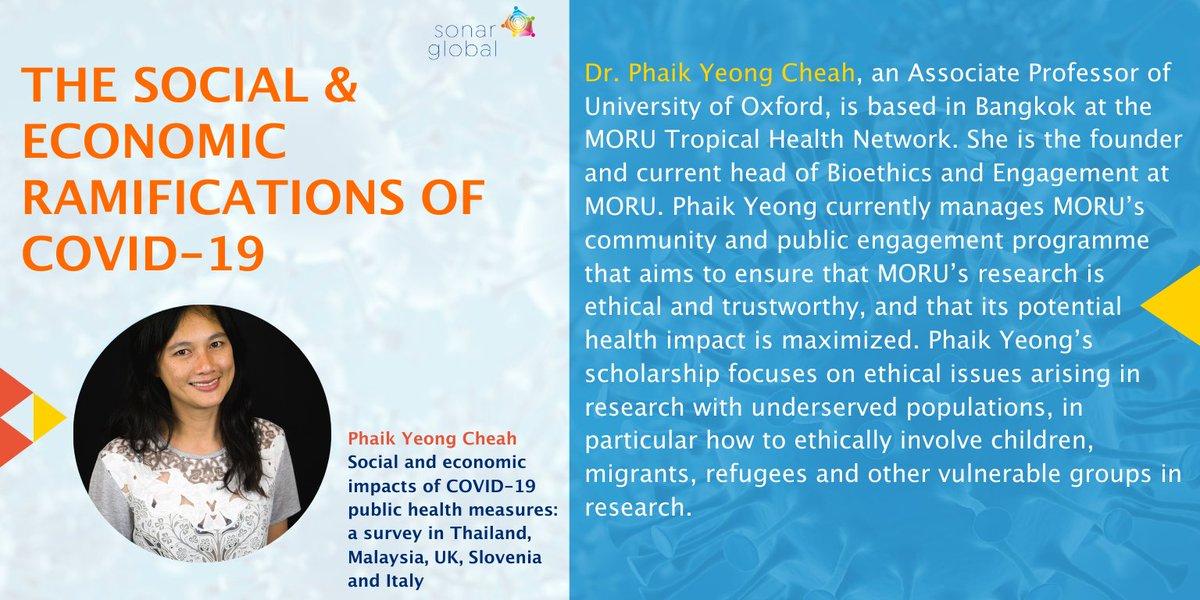 ▶️ #RegisterNow & #meet @phaikyeong from @MORUBKK @MahidolU who will present the social & economic impacts of #COVID19 #PublicHealth measures.   🗓️ 22nd of September, 2020  ⏰ 1:00pm CET  For registration: https://t.co/P9dumEk2n0 https://t.co/CXn2ypGAvT