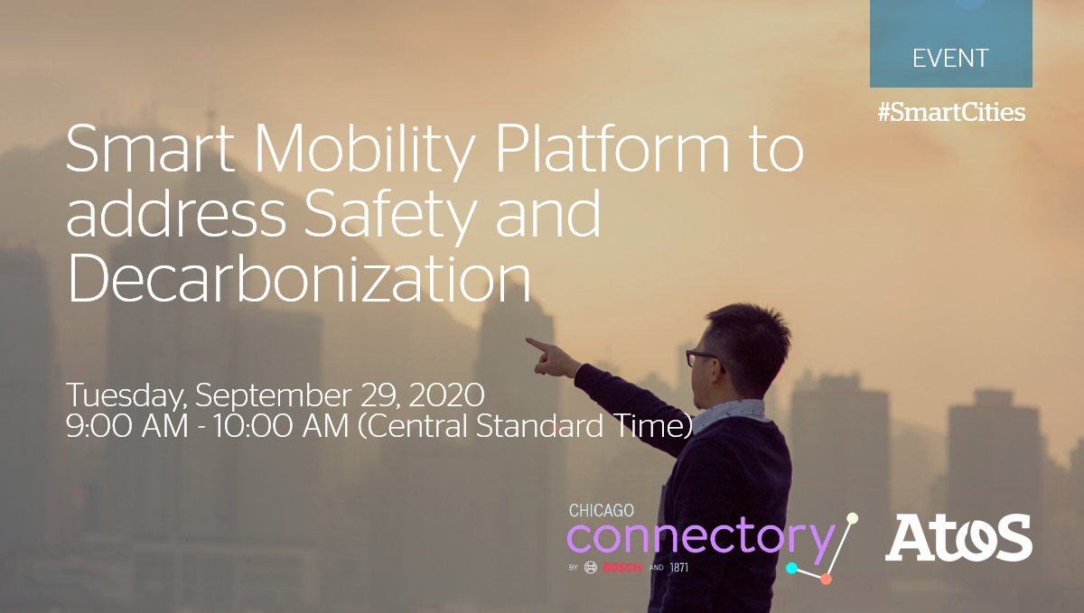 Join us at Chicago @connectory and discover how Atos Codex Smart City platform will support Smart Mobility goals in safety, efficiency and #decarbonization. Register here: https://t.co/D4osuHsHnF #SmartCities #SmartMobility https://t.co/cMEhtywauk