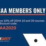 Image for the Tweet beginning: Save 10% on OSHA training