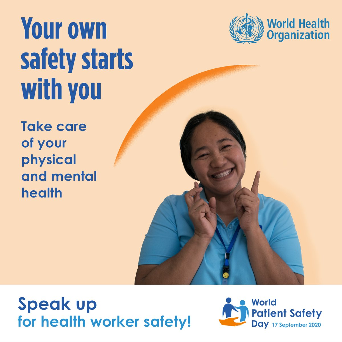 #Healthworkersafety is a priority for #patient safety. Speak up for #health worker safety  Safe health workers, Safe patients!  Watch @WHO https://t.co/pCm14Lnhfi  #worldpatientsafetyday2020 #PatientSafety #healthcareworkers  #PPE #thankyouNHS #globalchange #HealthCareMatters https://t.co/oGE6aSpqu4