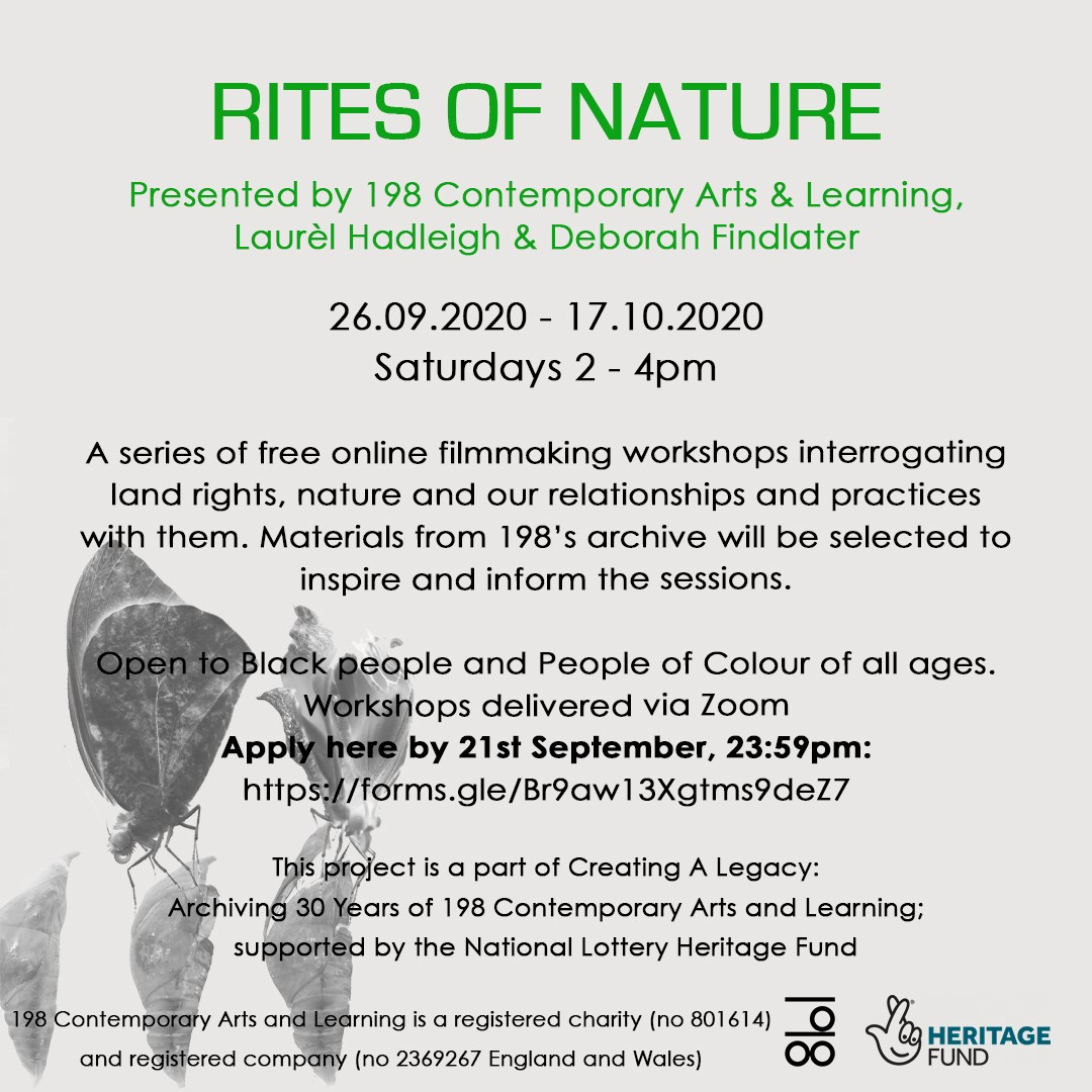 SIGN UP for RITES OF NATURE! A series of free online filmmaking workshops interrogating land rights, nature and our relationships and practices with them. Open to Black people & People of Colour of all ages. For more info and application form: https://t.co/el56LEHh1Z https://t.co/bb5rYpbkCa
