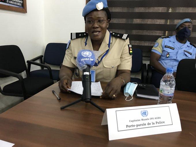 MINUSCA : Capitaine Agba Mazalo, nouvelle porte-parole de la Police https://t.co/HnG6zrnkmn  #Togo #24heureinfo #UNPOL @AgbaMazalo #MINUSCA https://t.co/Zpq5dwdeq2
