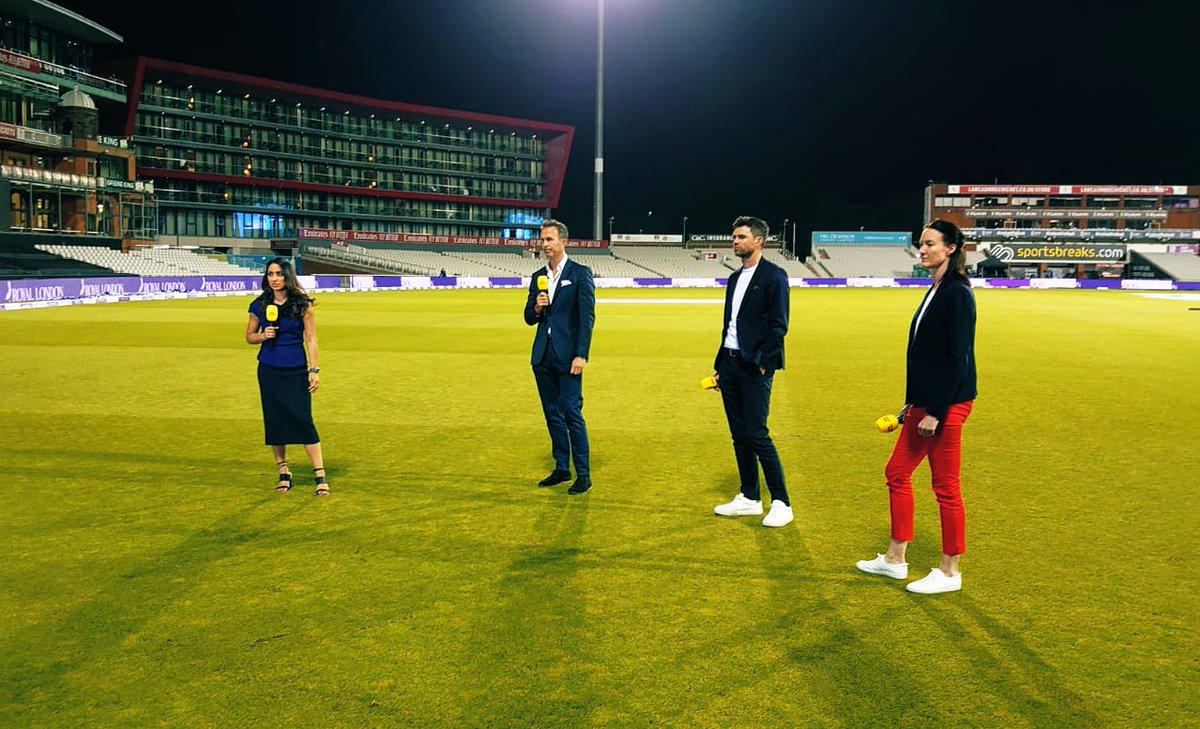 Finished the men's intls on @BBCSport TV with this gang last night. All HLs/Lives avail on Iplayer for the nxt month with so many thrillers. Great to have @jimmy9 & always fun working with @AlisonMitchell @MichaelVaughan @philtufnell Onto the women's intls starting Mon! #cricket https://t.co/BLUEjVvdV7
