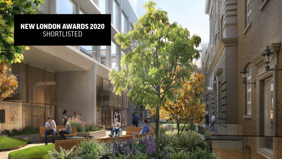 Our designs of a pioneering new home for @UCLIoN + @UKDRI has just been shortlisted for the @nlalondon awards' #Placemaking category. The project will provide a series of attractive public spaces in #Bloomsbury. Read all about it: https://t.co/4plQE70lEF  #NLAwards20 https://t.co/esmaS6ppKI