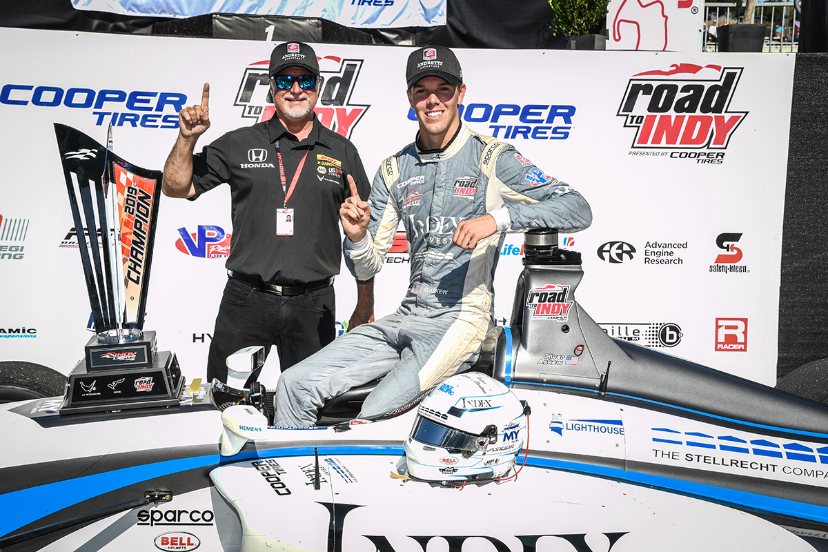 Throwing it back one year - and a weekend to remember for @Oliver_Askew, capturing the 2019 series championship @WeatherTechRcwy!  #RoadToIndy to #INDYCAR  #tbt https://t.co/NXjnbNHbWq