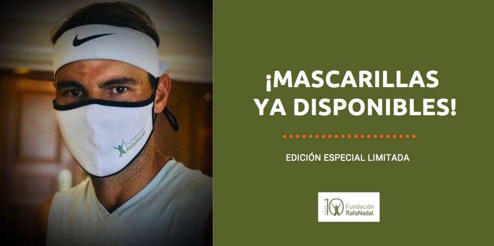 Las mascarillas de la #FundaciónRafaNadal ya están a la venta 😀  ¡Edición limitada! ➡️ https://t.co/3TsjYyBue8  #RafaNadal @rnadalacademy https://t.co/JMhsF9pmiK