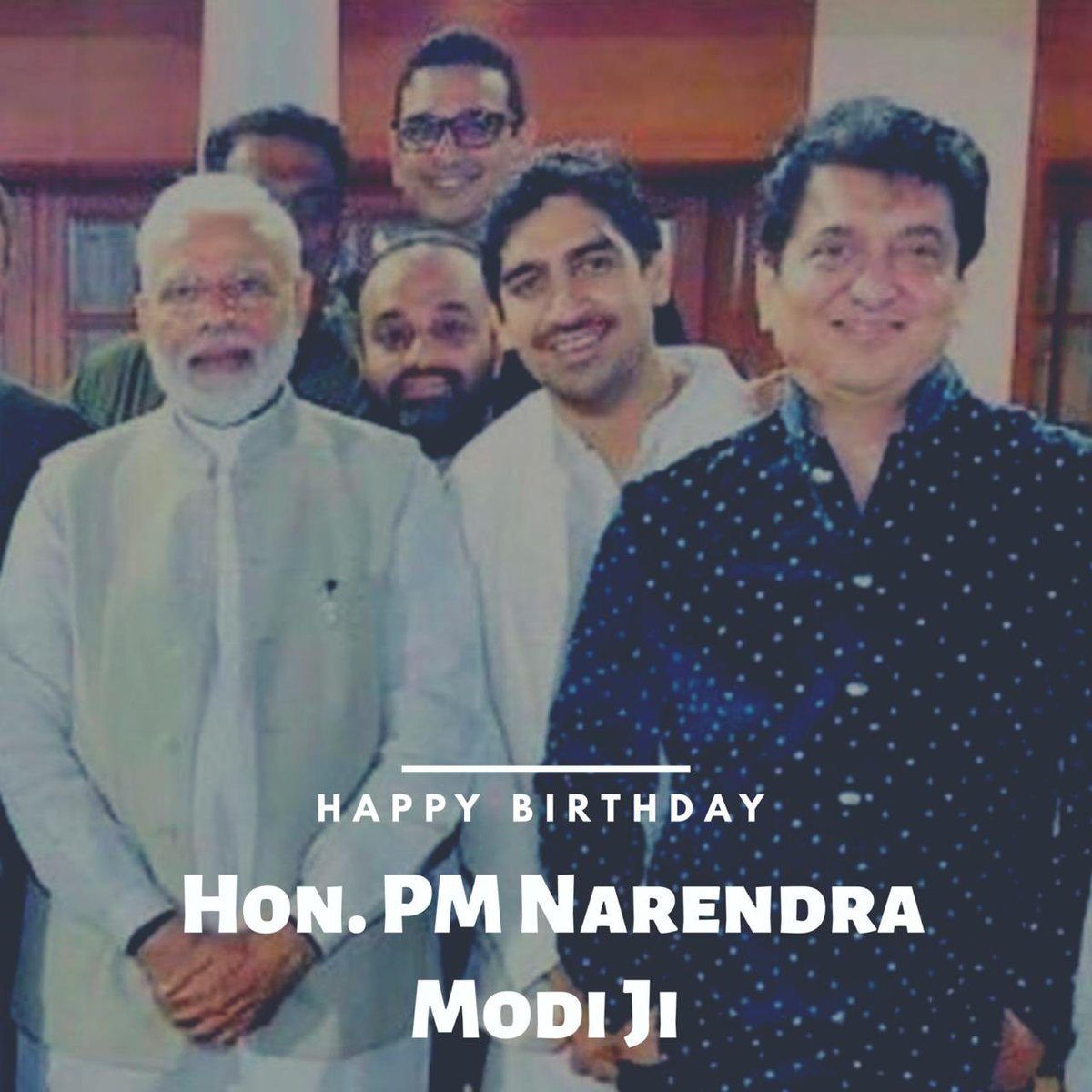 (1/2) Honourable Prime Minister @narendramodi Ji WISH YOU A VERY HAPPY BIRTHDAY!!!  Each time I met you Sir, you've been so encouraging and motivating, and your vision and ideas for the growth of the Indian Film Industry really inspires us Sir!