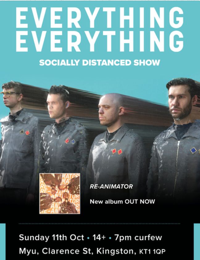 Our evening show at Kingston Pryzm for @BanquetRecords sold out in just a few minutes. Don't miss out on the matinee, on sale at midday. everythingeverything.ffm.to/banquetshows.o…