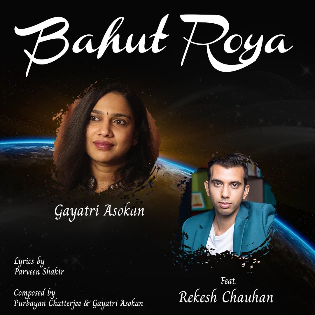 OUT on YouTube :) Bahut Roya  featuring ⁦⁦@rekeshchauhan⁩ is out on my YouTube channel . Composed by ⁦@stringstruck⁩ and Gayatri Asokan , penned by Parveen Shakir . Spread the love friends :))   https://t.co/Ac5El6Tuxz https://t.co/LnutQv5YCI