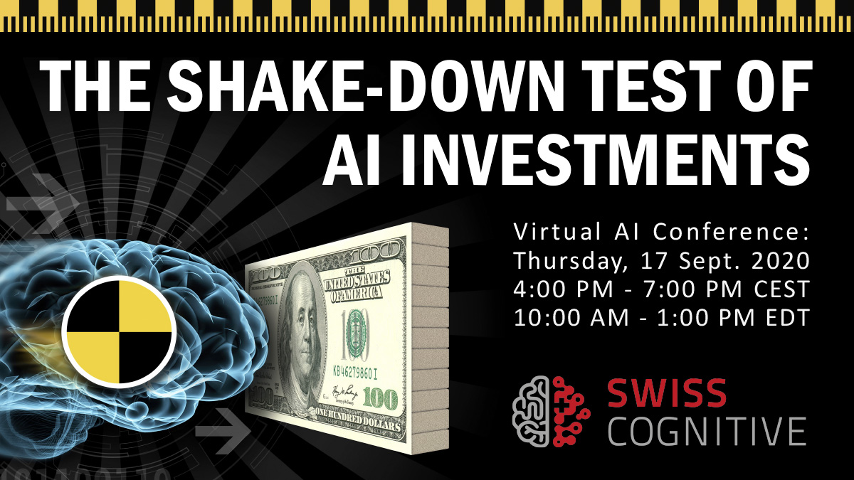 TODAY: 𝗧𝗵𝗲 𝗦𝗵𝗮𝗸𝗲𝗱𝗼𝘄𝗻-𝗧𝗲𝘀𝘁 𝗼𝗳 𝗔𝗜 𝗜𝗻𝘃𝗲𝘀𝘁𝗺𝗲𝗻𝘁𝘀 🧠🚀  An #open and #transparent discussion with experts and leaders on today's #CognitiveVirtual   👉🏾 Register for free: https://t.co/SUDQM1mkHe👈🏼 https://t.co/4wQBRhqD7D