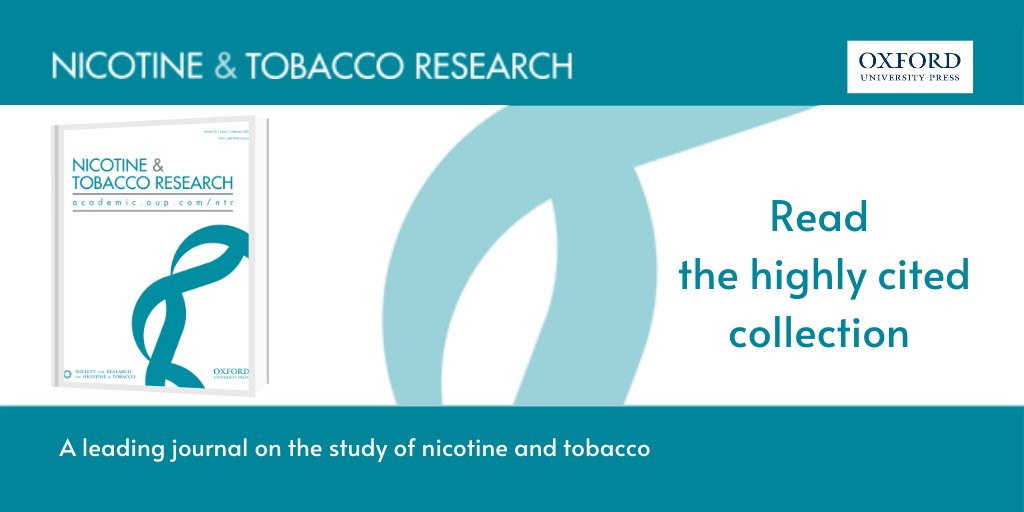Attending the virtual #SRNTE2020? Expand your knowledge on nicotine and tobacco research with free access to a collection of highly cited articles from @NTR_Journal: https://t.co/PRUMuiCAzp https://t.co/WI5vHlaNti