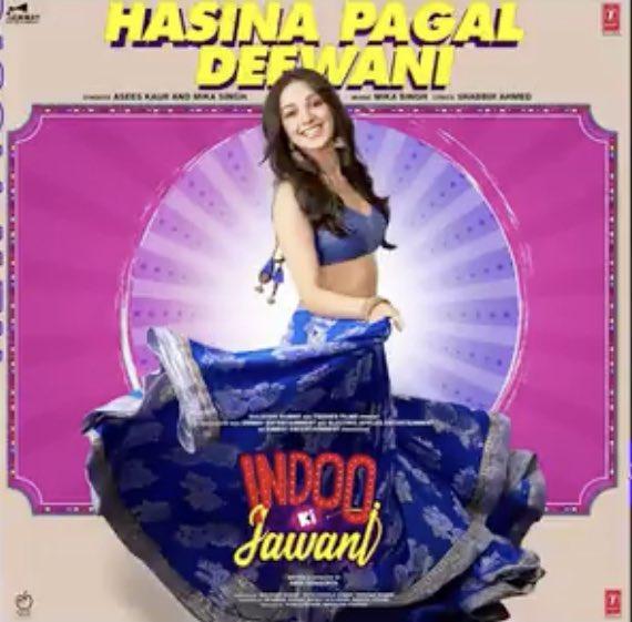 Gonna play #HasinaPagalDeewani as my daily BRANDNEW song on @LycaRadio1458 🇬🇧  By @AseesKaur and @MikaSingh 🔥💃💓 @AmazonMusicIN   #IndooKiJawani @advani_kiara #AdityaSeal #ShabbirAhmed @TSeries