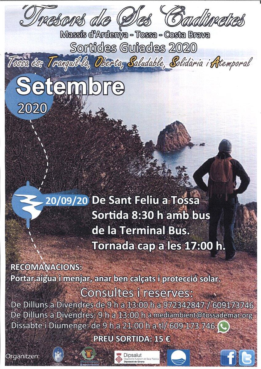 Tens pla per diumenge? Apunta't a l'excursió guiada de Sant Feliu de Guíxols a Tossa de Mar! 😀🙌  #inCostaBrava @TossaTurisme   Tota la informació 👇 https://t.co/5CcRileSzQ