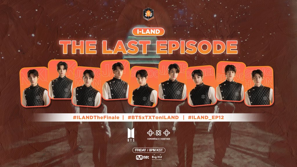 The I-LAND finale will be tomorrow (Sept 18) at 8PM KST and BTS + TXT will both be making an appearance!   Let's watch together using these hashtags starting at 7:30PM KST  #/BTSxTXTonILAND #/ILAND_EP12 #/ILANDTheFinale  #BTS @BTS_twt  #TXT @TXT_members  #ILAND #I_LAND #아이랜드 https://t.co/wmBd26acNm