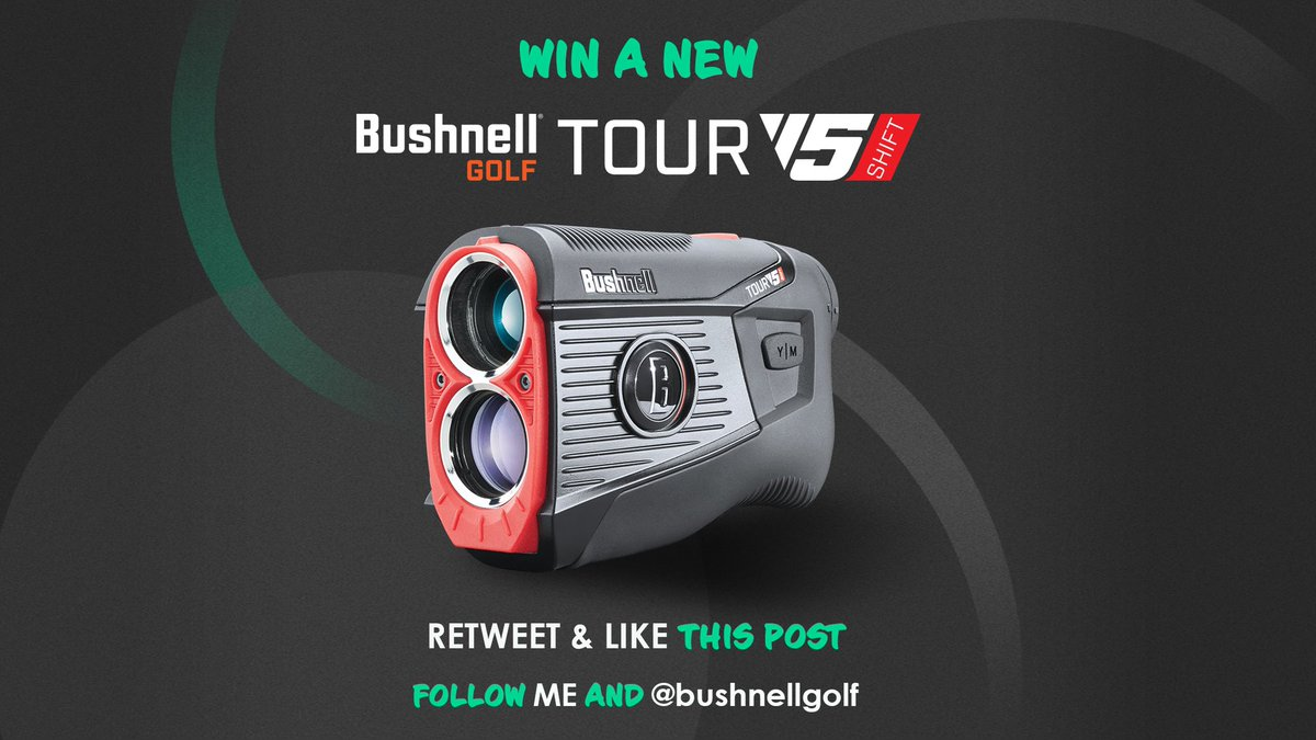 🚨GIVEAWAY 🚨 For a chance to win a Bushnell Tour V5 Shift - The UNDISPUTED no.1 rangefinder on Tour - RT, ❤️, follow me and @BushnellGolf  Competition also on Insta if you have an account ❤ Draw made one week from today, coin flip to see which platform gets the prize 👍 https://t.co/FZOZ7Tkjq5