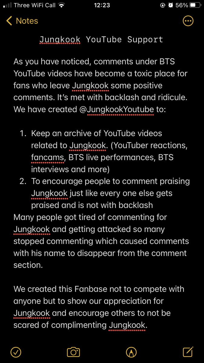 Announcement❗️ A new Fanbase to support Jungkook on YouTube. We learned in the Break The Silence movie that Jungkook watches his fancams. I became horrified thinking about the negative comments he might have seen. So, we started this to support him and encourage other to join us