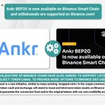 Image for the Tweet beginning: ❗️ @Ankr $ANKR BEP20 is
