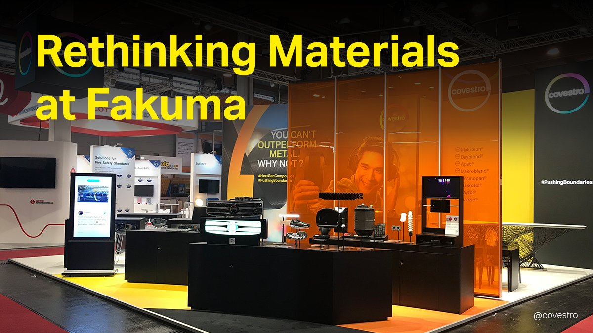 A little throwback to our fair stand at #Fakuma 2018. This year, at our first digital trade fair, we're looking forward to showing you how we support various industries by #RethinkingMaterials. Save the date and join us virtually and for free October 13-15. https://t.co/tiTm2wWpZk