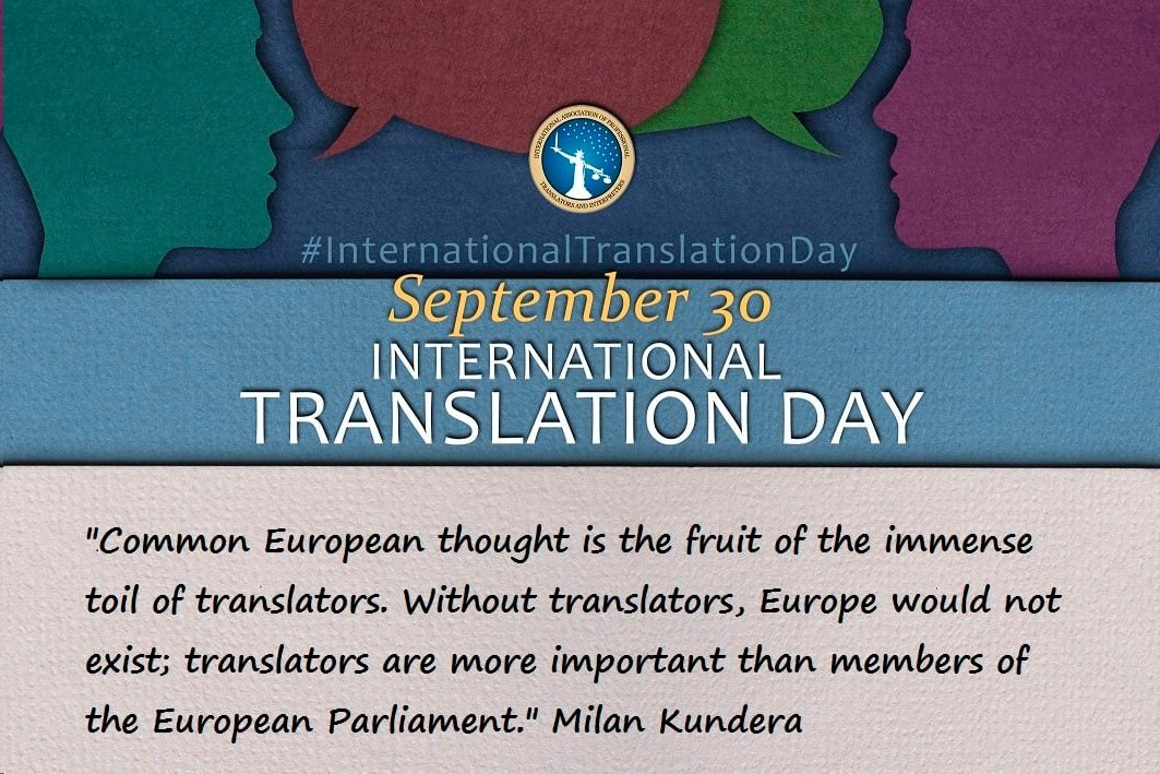 Kundera used to have epic meetings with his translators. He certainly knows what he is talking about! #xl8 #t9n #1nt #InternationalTranslationDay #iaptirocks https://t.co/vlcnoDd09y