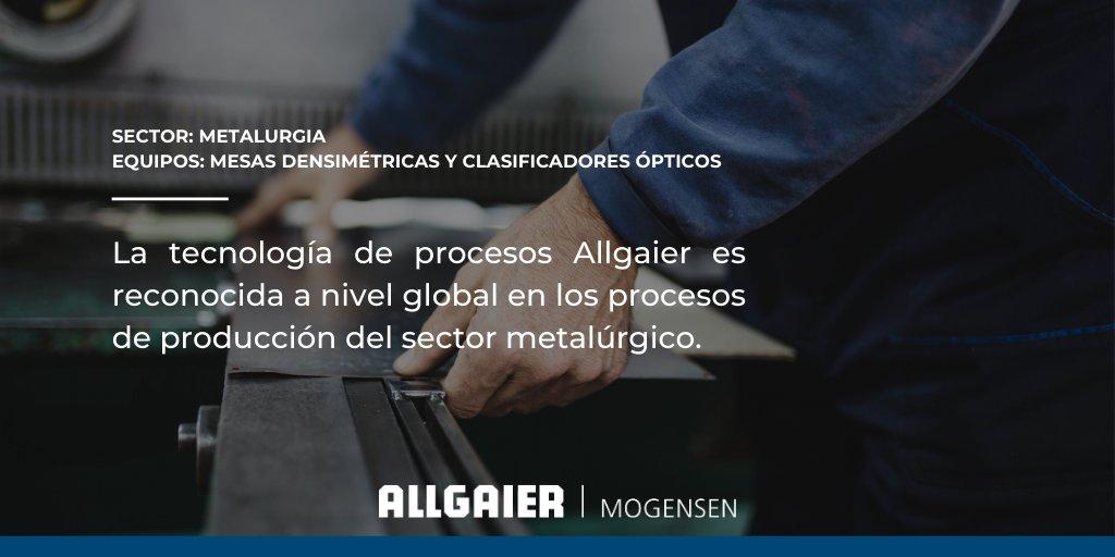Los equipos Allgaier son utilizados exitosamente a nivel mundial en la fabricación de diferentes productos metalúrgicos. Conoce más acerca de nuestros soluciones y sistemas para aplicaciones de ingeniería en #procesos industriales. https://t.co/QEr51Z1XJQ  #industria #metalurgia https://t.co/k5w38Lznps