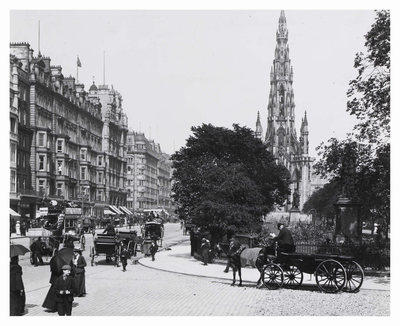 This was Princes Street in 1903 - all the hustle and bustle you would expect, but with horse drawn vehicles the norm and the Scott Monument standing proudly in the background.  #ForeverEdinburgh  #ThisisEdinburgh 📸CapitalCollections https://t.co/d3dMNzoB20