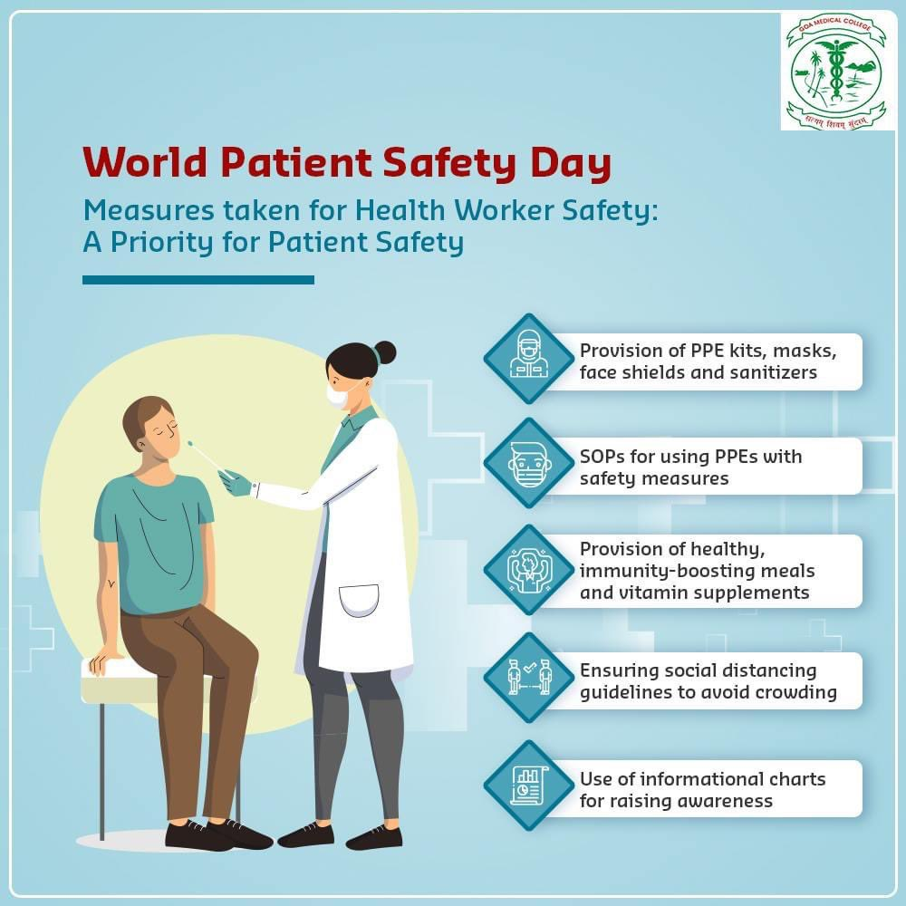 COVID-19 has unveiled huge challenges for health workers. The increased risk of infections coupled with working in stressful environments exacerbates risks to health workers. Keeping theirs & patients as our priority, here's how we are taking measures:  #WorldPatientSafetyDay https://t.co/4Rzc7ULQAW