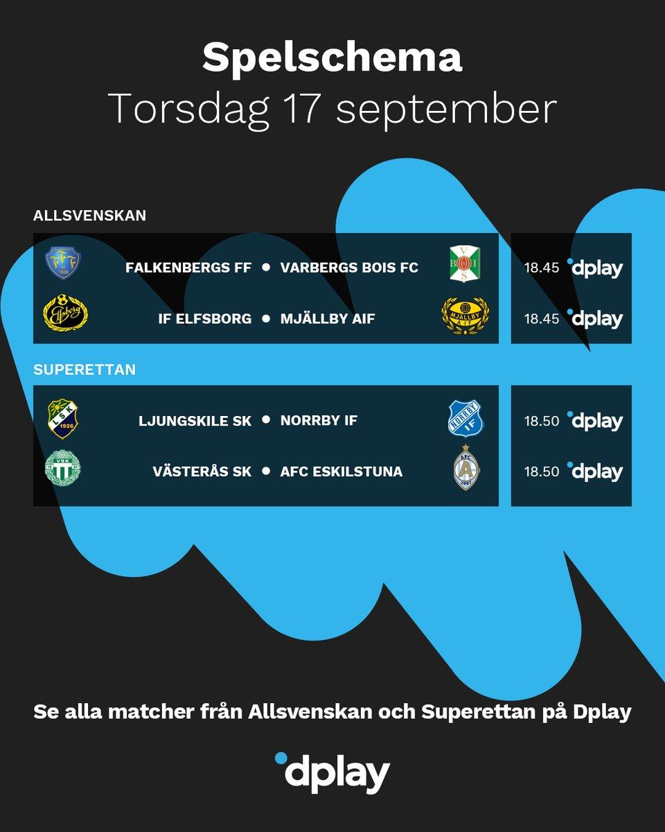 Dplay Sport On Twitter Kvallens Matcher I Allsvenskan Och Superettan Hos Oss